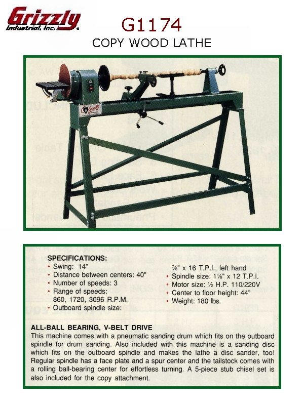 Grizzly wood lathe G1174 - Woodworking Talk - Woodworkers Forum