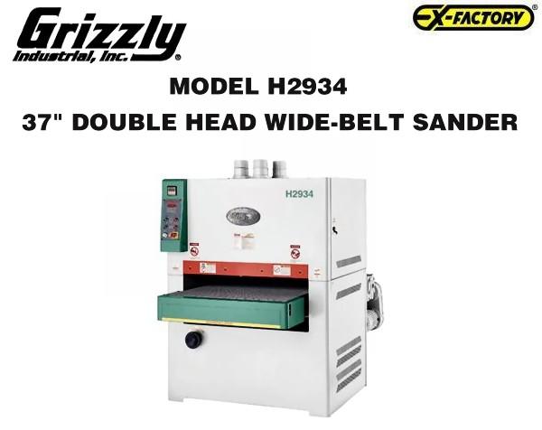 sx 230289 grizzly quot h2934 quot 2 wide belt sander